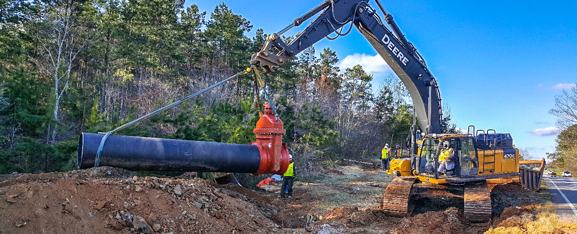 Richland Creek Reservoir – Finished and Raw Water Mains